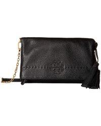 926e84925 Tory Burch - Mcgraw Chain Fold-over Crossbody (black) Cross Body Handbags -