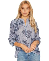 Lucky Brand - Floral Chambray Top - Lyst