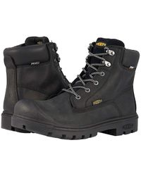 d87aa1c608e Keen Utility Logandale Soft Waterproof Work Boot in Black for Men - Lyst