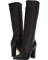 4c25d3ac5d2 Lyst - Dolce Vita Elan Leather Over The Knee Boot in Black