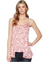 Stetson - 1589 Pink Floral Herringbone Print Cami - Lyst