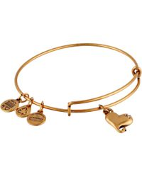 ALEX AND ANI - Cupid's Heart Charm Bangle - Lyst