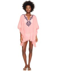Letarte - Embroidered Poncho - Lyst