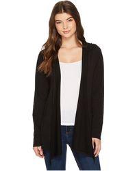 Mod-o-doc - Cotton Modal Fleece Button Hem Hooded Cardigan - Lyst