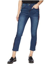 Romeo and Juliet Couture - Side Trim And Grommet Skinny Jeans In Medium Denim - Lyst
