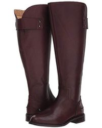 4ff65193f9d Franco Sarto Henrietta Wide Calf Riding Boots in Black - Lyst