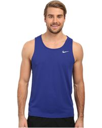 Nike | Dri-fit™ Contour Running Singlet | Lyst