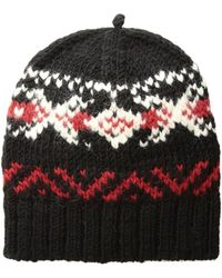 08d245476f8 Lyst - Polo Ralph Lauren Exploded Rope Cable Cuff Hat W  Pom in Red