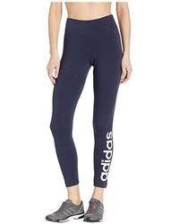 965cfa3f60863 adidas Originals Linear Logo Leggings in Black - Lyst