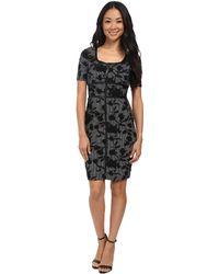 NYDJ | Dahlia Floral Houndstooth Dress | Lyst