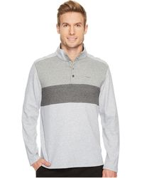 Calvin Klein - Color Blocked Chest Stripe 1/4 Snap Knit - Lyst
