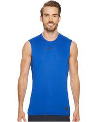 b4dc048cd3fe1 Nike - Pro Fitted Sleeveless Training Top (obsidian black black) Men s  Sleeveless