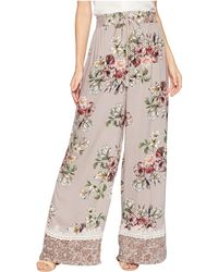 Angie - Wide Leg Pants With Tassel And Border - Lyst