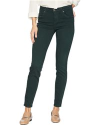 Kut From The Kloth - Mia Toothpick Ankle Skinny Jeans In Hunter Green - Lyst