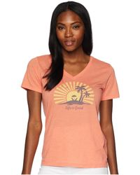 Life Is Good. - Sunset Chill Cool Vee Tee - Lyst