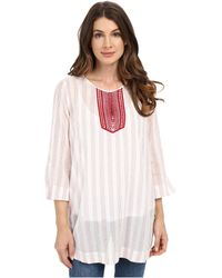 NYDJ - Cotton Embroidered Tunic - Lyst