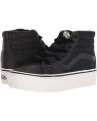 beea6b0aa4 Lyst - Vans Sk8-hi Platform 2.0 (true White true White) Skate Shoes ...