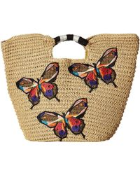 San Diego Hat Company - Bsb1728 Paper Tote With Butterfly Embroidery - Lyst