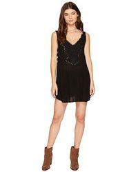 5edfd187d0cc5 Free People - Delphine Embellished Slip (black) Dress - Lyst