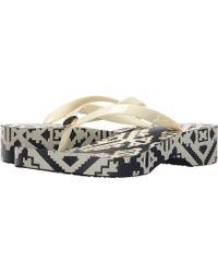 Tory Burch - Printed Carved Wedge Flip-flop - Lyst