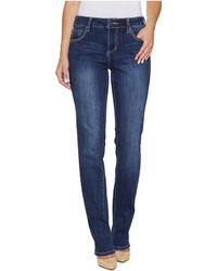 Jag Jeans - Adrian Straight Jeans In Crosshatch Denim In Thorne Blue - Lyst