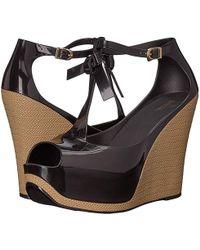 61f24729537 Melissa Peace Pvc Platform Wedge Sandals in Black - Lyst
