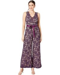 e453b3a954bc Marina - Sleeveless Lace Jumpsuit With Contrast Lining - Lyst