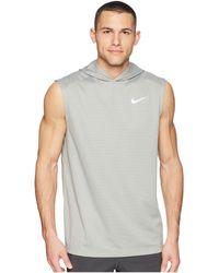 size 40 9ea7e 4c8b2 Nike - Dry Top Sleeveless Running Hoodie - Lyst
