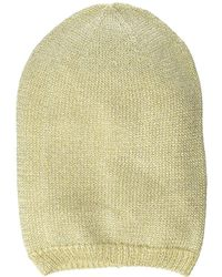 dcba4a2bc0e Lyst - Steve Madden Fuzzy Color Block Cuff Beanie in Gray