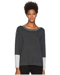 0d50a8642be Eileen Fisher Tinted Linen Gauze Tunic in Gray - Lyst