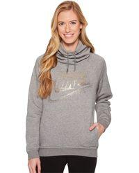 Nike - Sportswear Rally Metallic Funnel-neck Pullover Hoodie - Lyst