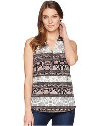 dfcc53b1c2a26 Lyst - Ivanka Trump Georgette Floral Print Blouse in Black