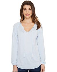 Jag Jeans - Peasant Tee In Burnout Jersey - Lyst