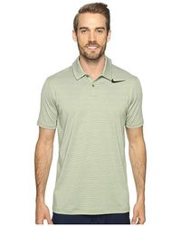 d723823a0c Nike - Mobility Control Stripe Polo (palm Green/black) Short Sleeve  Pullover -