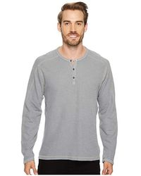 Agave - Riptide Long Sleeve Henley Slub Thermal (gunmetal) Long Sleeve Pullover - Lyst