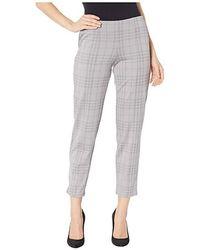 3eccecab4edc28 Hue - Seamed Luxe Ponte Skimmer Leggings (grey/printed Plaid) Casual Pants -