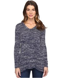 Mod-o-doc - Space Dyed Slub Sweater Seamed V-neck Pullover - Lyst