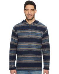 fb7b9847a116 Lyst - Pendleton Serape Stripe Popover Hoodie in Blue for Men