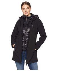Calvin Klein - Softshell Jacket With Packable Bib Insert (black) Coat - Lyst