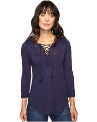 Lucky Brand - Lace Front Peasant - Lyst