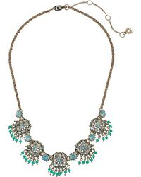 Marchesa - Lighter Than Air 16 In Cluster Frontal Round Embellishment Necklace - Lyst