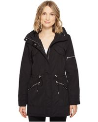 Vince Camuto   Lightweight Parka With Drawstring Waist And Hem   Lyst