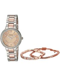 Fossil - Virginia Watch And Jewelry Box Set - Es4137set - Lyst