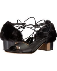 0fc275580527 Lyst - Charles David Faint Platform Heel Sandal in Black