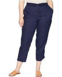 bbb1ac26c69 Lyst - Lauren By Ralph Lauren Plus Size Pull-On Ankle Pants in Blue