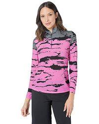 Jamie Sadock - Sunsense(r) 50 Uvp 1/4 Zip Long Sleeve Top With Bengal Print (pinkterest) Clothing - Lyst