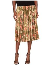 6110bb6d06 Kate Spade - Hazy Rose Pleated Lame Skirt (black Multi) Skirt - Lyst