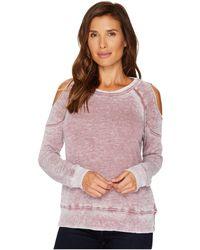Allen Allen - Cold Shoulder Sweatershirt - Lyst