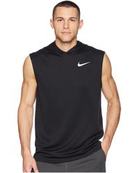 1faa4349edab2 Lyst - Nike Men s Dri-fit Sleeveless Hoodie in Gray for Men