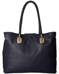 daadf1a8753 Cole Haan Benson Ii Woven Small Square Tote in Black - Lyst